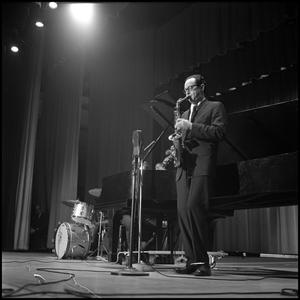 Paul Desmond on stage at North Texas State University