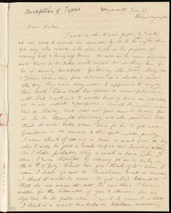 Letter from Anne Warren Weston, Weymouth, [Mass.], to Deborah Weston, June 27, Wednesday night