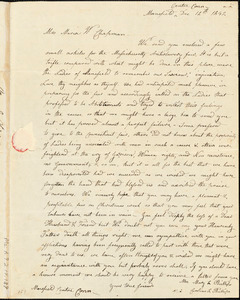 Letter from Mary L. Phillips, Mansfield Centre, Conn, to Maria Weston Chapman, Dec. 12th, 1842