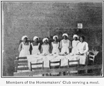 County training school, Pickens County, Ala.; Members of the Homemakers' Club serving a meal