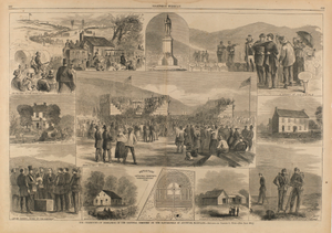 The Ceremonies of Dedication of the National Cemetery on the Battlefield of Antietam, MD, from Harper's Weekly, October 5, 1867