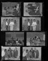 Set of negatives by Clinton Wright including Mama Jessie's Kids, OTT Contract, Madison Junior High Day, and Pedro's birthday cake, 1966