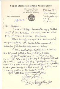 Letter from Clive Cottingham to W. E. B. Du Bois