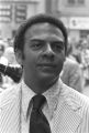 "Andrew Young standing on a street in downtown Atlanta, Georgia, during the Democratic National Committee's regional conference, ""Victory '68."""