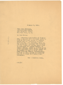 Letter from W. E. B. Du Bois to Rosa McKusick