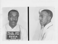 Mississippi State Sovereignty Commission photograph of Johnny Frank Ashford following his arrest for his participation in the Freedom Rides, Jackson, Mississippi, 1961 June 6