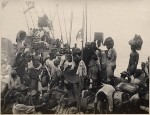 Front deck with negroes Voderdeck mit Negern