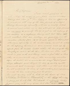 Letter from Deborah P. Palmer, Georgetown, [Massachusetts], to Maria Weston Chapman, 1839 Dec[ember] 1