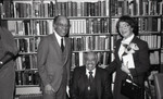 A.C. Bilbrew Library event group portrait of Cab Calloway and Ruth Washington, Los Angeles, 1983