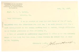 Letter from John Hurst to W. E. B. Du Bois