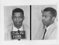 Mississippi State Sovereignty Commission photograph of John Lewis following his arrest for his participation in the Freedom Rides, Jackson, Mississippi, 1961 May 25
