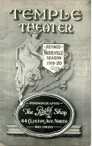 Program booklet for a vaudeville show at the Temple Theatre