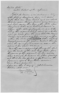 Affidavit of Robert M. Denison in the Matter of George Fisher, Fugitive Slave