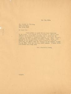 Letter from W. E. B. Du Bois to Daniel J. Fleming