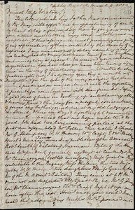 Letter from Mary Anne Estlin, Park St[reet], Bristol, [England], to Miss Weston, March 4, 1853