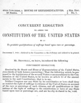 Concurrent resolution to amend the Constitution of the United States so as to prohibit qualifications of suffrage based upon race or parentage