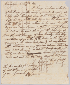 Affidavit of apprehension of James and John, property of Harriot Rouzee