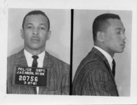 Mississippi State Sovereignty Commission photograph of Alfred Lee Cook following his arrest for his participation in a sit-in at a library in Jackson, Mississippi, 1961 March 27