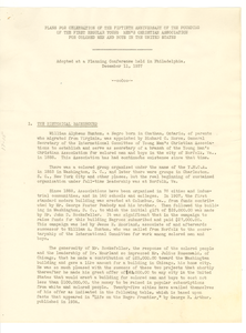 Plans for the Fiftieth Anniversary of the Founding of the First Regular Young Men's Christian Association for Colored Men and Boys in the United States