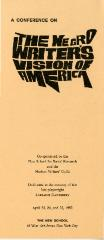 A Conference on the Negro Writer's Vision of America