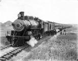Locomotive and train, Montana