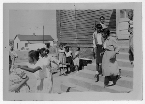 Photograph of African American students at recess, Manchester, Georgia, 1953