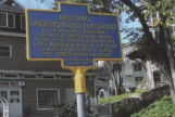 Historic Underground Railroad plaque, Nyack, NY