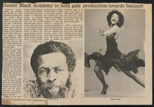 Clipping: Junior Black Academy to hold gala production/awards banquet JBAAL News