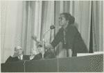 Claudia Jones speaking at African Unity House
