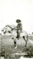 Itinerant missionary on horseback, San Salvador, Bahamas, Undated