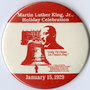 Martin Luther King, Jr. birthday button