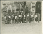 African American class photo, outside