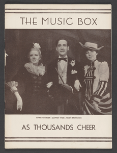 Theatre Program for As Thousands Cheer