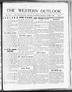 The Western Outlook (San Francisco and Oakland, Calif.), Vol. 34, No. 30, Ed. 1 Saturday, April 28, 1928 The Western Outlook