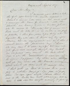 Letter from Anne Warren Weston, Weymouth, [Mass.], to Samuel May, Sept. 5, 1849