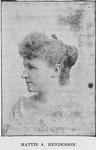 Mattie Allison Henderson. Teacher, Stenographer and Editor