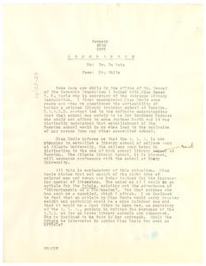 Memorandum from Walter White to W. E. B. Du Bois