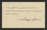 State Supervisor of Elementary Education; Conferences, Correspondence, 1955