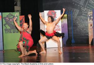 Dancers Performing Tribal Routine Hip Hop Broadway: The Musical