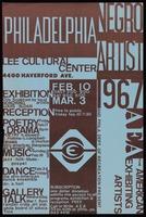 Poster. Philadelphia Negro Artist