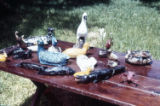 "Clay sculptures by James ""Son"" Thomas circa 1971.(Slide Notebook 1 Box 15)"