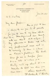 Letter from Antoinette F. Konikow to W. E. B. Du Bois