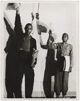 """Untitled photograph from """"Don't you want to be free?"""" performed by the Negro Theatre League"""
