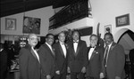 Danny Bakewell posing with Tom Bradley and others, Los Angeles, 1990