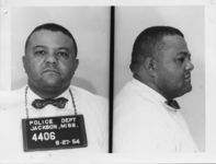 Mississippi State Sovereignty Commission photograph of Arrington High following his arrest in Jackson, Mississippi for distributing literature without a permit, Jackson, Mississippi, 1954 August 27