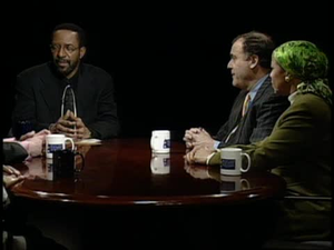 Evening Exchange; African Americans and War Against Iraq / Weekly News Analysis / Kurt Schmoke (Dean School of Law)
