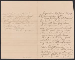 Letter from Nelson Jordan to Julia Womack