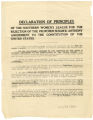 Declaration of principles of the Southern Women's League for the Rejection of the Susan B. Anthony Amendment