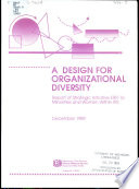 A Design for organizational diversity : report of strategic initiative ERR-16: minorities and women within IRS