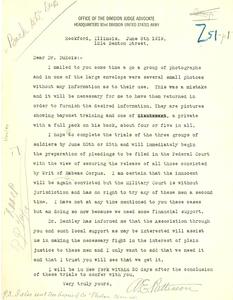 Letter from Adam E. Patterson to W. E. B. Du Bois
